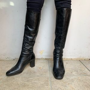 Salvatore Ferragamo Black Knee High Boots
